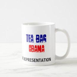 TEA BAG, OBAMA Mug