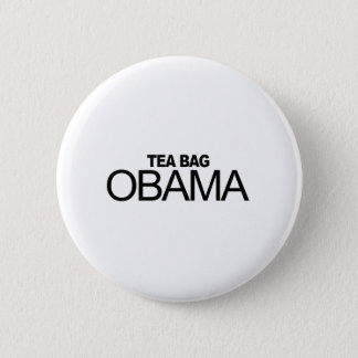 Tea Bag Obama Pinback Button