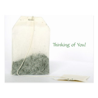 TEA BAG POST CARD - THINKING OF YOU!