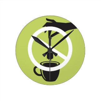 Tea Bag Round Clock