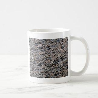Tea bag under the microscope coffee mug