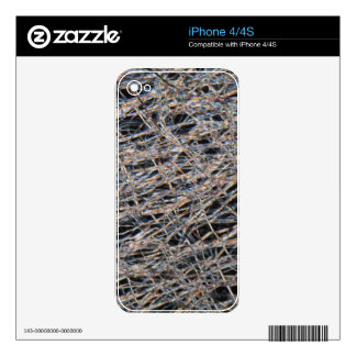 Tea bag under the microscope decal for the iPhone 4S