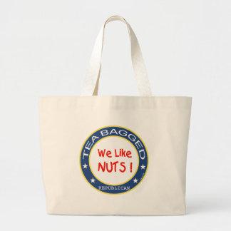 Tea Bagged Republican Large Tote Bag