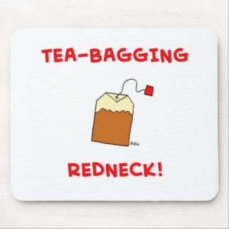 tea-bagging redneck mouse pad