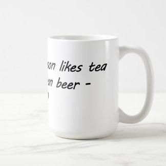 Tea before beer - HERO Classic White Coffee Mug