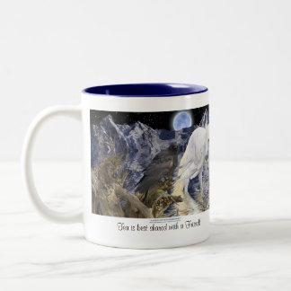TEA BEST SHARED WITH A FRIEND Pegasus & Raven Two-Tone Coffee Mug