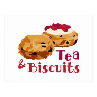Tea & Biscuits Postcard