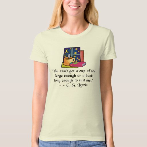 Tea & Books w Quote Ladies Fitted Organic T Tee Shirt
