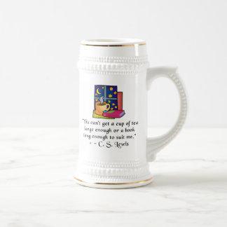 Tea & Books w Quote Steins - 2 colors Mugs