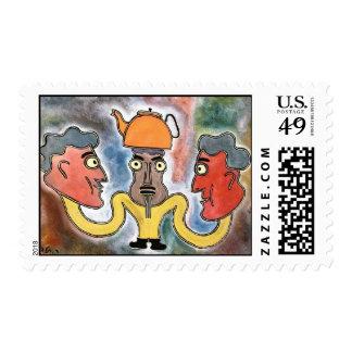 Tea break by rafi talby stamps