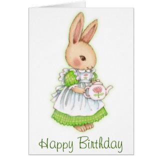 Tea Bunny - Cute Rabbit Birthday Card