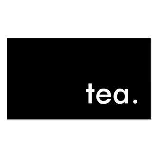 tea. business card