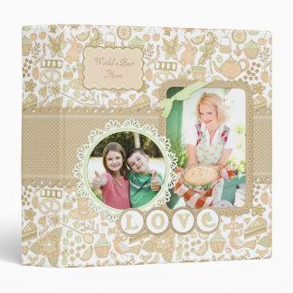 Tea Cake Floral 2 Mother's Day Custom Album 3 Ring Binder