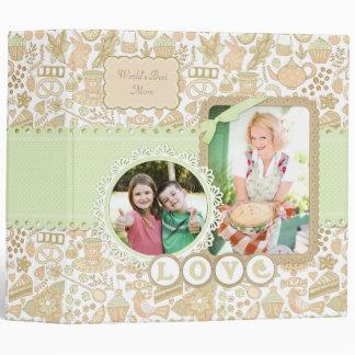 Tea Cake Floral Mother's Day Custom Album Binder