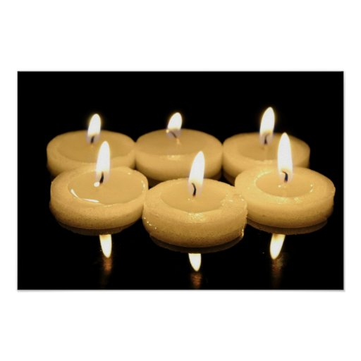 Tea candles poster