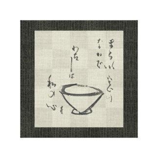 Tea Ceremony Sumi-e - Wrapped Canvas Canvas Prints