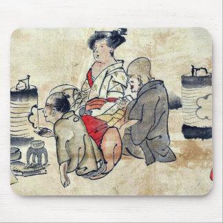 Tea ceremony Ukiyo-e. Mouse Pads