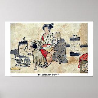 Tea ceremony Ukiyo-e. Posters