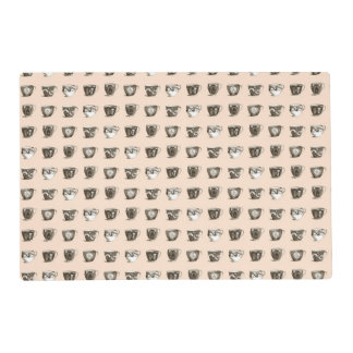 Tea & Coffee Cups on Peach Placemat