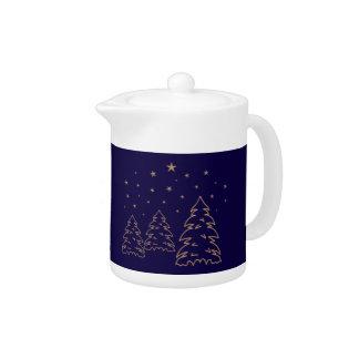 Tea-/Coffeepot Christmas Landscape Gold–Own Color Teapot