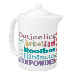 Tea Connoisseur Typography Teapot