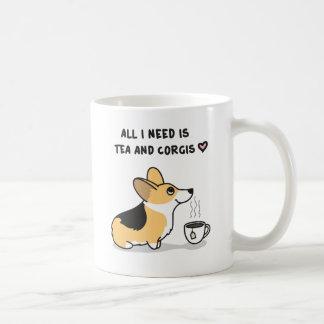 Tea & Corgis [tricolor] Coffee Mug
