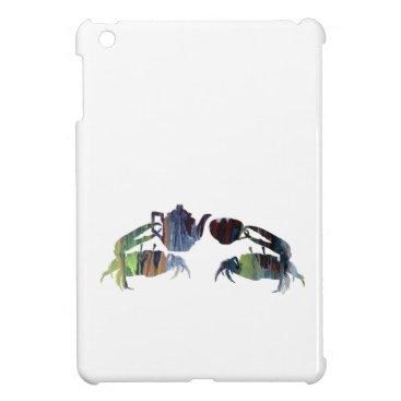 Beach Themed Tea crabs iPad mini covers