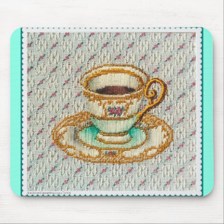 Tea Cup and Lace Mouse Pad