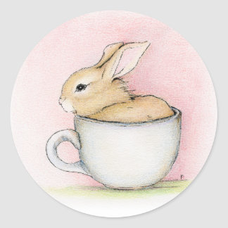 Tea Cup Classic Round Sticker