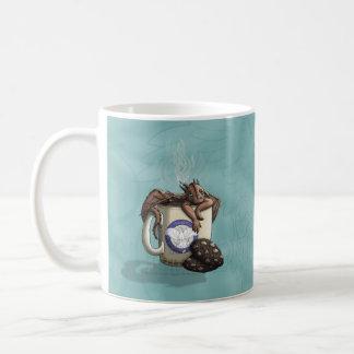 [Tea Cup Dragon] Mocha Classic White Coffee Mug