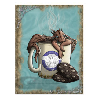 [Tea Cup Dragon] Mocha Postcard