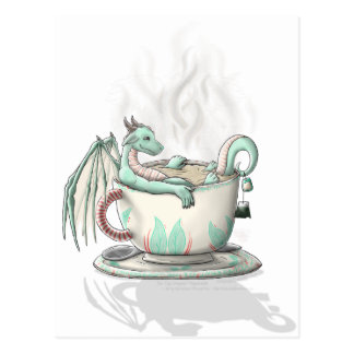 Tea Cup Dragons: Peppermint (Clear) Postcard