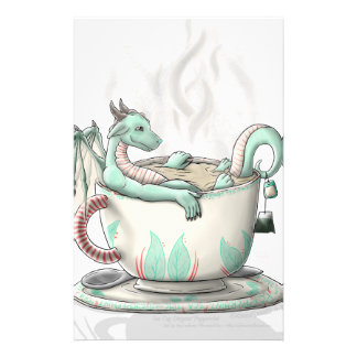 Tea Cup Dragons: Peppermint (Clear) Stationery
