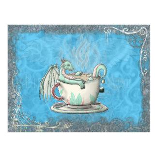 Tea Cup Dragons: Peppermint Postcard