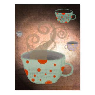 Tea cup english uk petite lovely man postcard