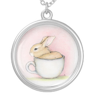 Tea Cup - Featured on Squidoo! Round Pendant Necklace