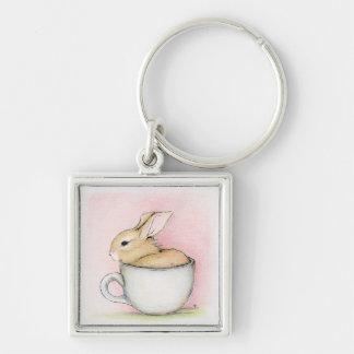 Tea Cup Keychain