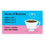 Tea cup love business card