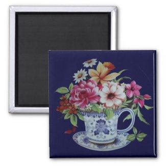Tea cup magnet