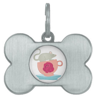 Tea Cup Mouse Pet ID Tag