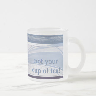 tea cup 10 oz frosted glass coffee mug