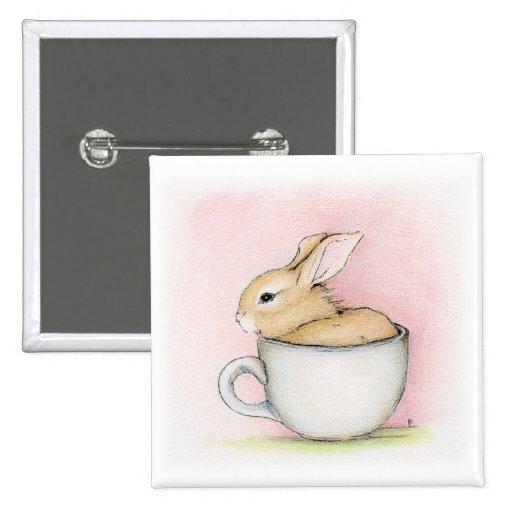 Tea Cup Pinback Button