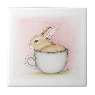 Tea Cup Small Square Tile