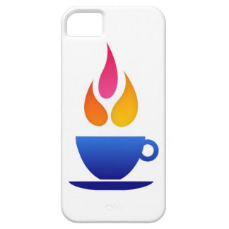 Tea cup with colorful flames iPhone SE/5/5s case