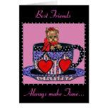 Tea Cup Yorkie Best Friends Card
