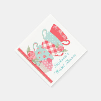 Tea Cups and Roses Disposable Napkin