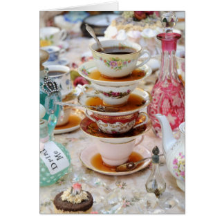 Tea Cups at a Party Greeting Card