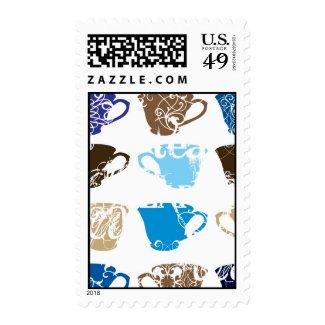 Tea Cups stamp