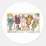 Tea Dolls Classic Round Sticker
