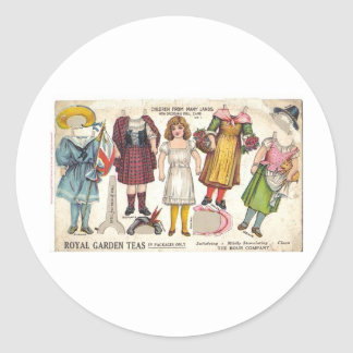 Tea Dolls Classic Round Sticker